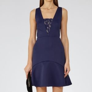 Reiss Hudson Lace Insert Dress
